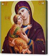 Virgin Of Silver Spring - Theotokos Acrylic Print