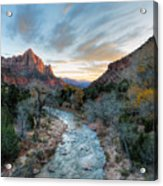 Virgin River And The Watchman Acrylic Print