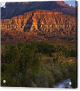 Virgin River Near Zion National Park Acrylic Print