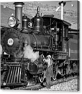 Virginia And Truckee Engine 25 Monochrome Acrylic Print