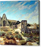 Virginia City Nevada II Acrylic Print by Evelyne Boynton Grierson