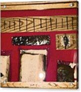 Virginia Dale - Burn Relics In Red Acrylic Print