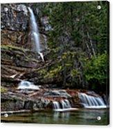 Virginia Falls In The Pool Acrylic Print