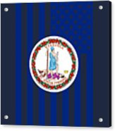 Virginia State Flag Graphic Usa Styling Acrylic Print