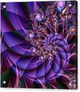 Virginias Violet Acrylic Print