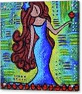 Virgo Y Flor Acrylic Print