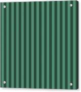 Viridian Green Striped Pattern Design Acrylic Print