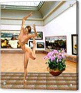 Virtual Exhibition - Dacanvasncing Girl Acrylic Print