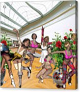 Virtual Exhibition - Dance Of Opening The Exhibition Acrylic Print
