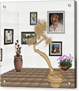 Virtual Exhibition - Statue Of Bonsai 1 Acrylic Print