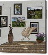 virtual exhibition_Statue of swan 23 Acrylic Print
