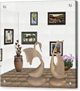 virtual exhibition_Statue of swans 22 Acrylic Print