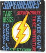 Virtues Of A Superhero 2 Acrylic Print