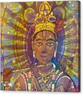 Vishnu Krishna Face Acrylic Print
