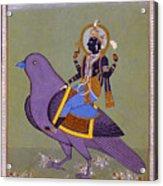 Vishnu On A Bird Acrylic Print