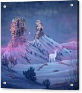 Vision Of The Legend Of White Deer Woman-chimney Rock Colorado Acrylic Print