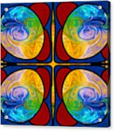 Visions Of Bliss And Abstract Artwork By Omaste Witkowski Acrylic Print