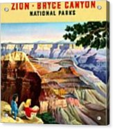 Visit Grand Canyon - Restored Acrylic Print