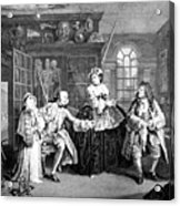 Visit To The Quack Doctor, 1745 Acrylic Print