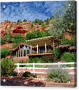 Visitor Center Best Friends Animal Sanctuary Angel Canyon Knob Utah 02 Acrylic Print