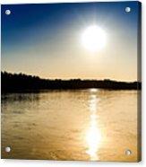Vistula River Sunset 2 Acrylic Print by Tomasz Dziubinski