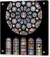 Vitraux - Cathedrale De Chartres - France Acrylic Print
