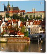 Vitus Cathedral Over Vltava  Acrylic Print