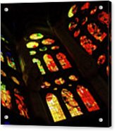 Vivacious Stained Glass Windows Acrylic Print