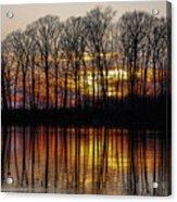 Vivid Sunset On The Lake In Olney Acrylic Print