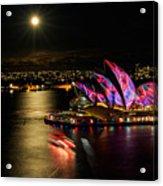 Vivid Sydney Under Full Moon Acrylic Print