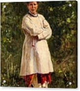 Vladimir Yegorovich Makovsky Russian 1846  1920   Ukrainian Girl, 1898 Acrylic Print