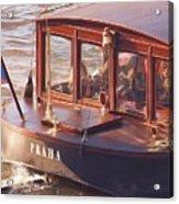 Vltava River Boat Acrylic Print by Shawn Wallwork