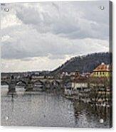 Vltava River Scene Acrylic Print