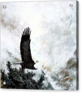 Voice Of The Eagle Reaches Toward The Heavens Acrylic Print