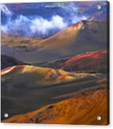 Volcanic Crater In Maui Acrylic Print