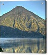 Volcano And Reflection Lake Atitlan Guatemala 3 Acrylic Print