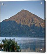 Volcano And Reflection Lake Atitlan Guatemala Acrylic Print