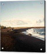 Volcano Black Sand Beach Acrylic Print