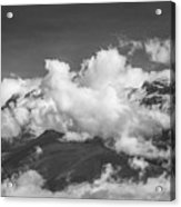 Volcano Chachani In Arequipa Peru Covered By Clouds Acrylic Print
