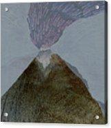 Volcano Dawn - Original Acrylic Painting Acrylic Print