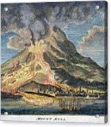 Volcano: Mt. Etna Acrylic Print by Granger