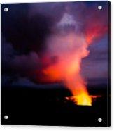 Volcano Sunset Acrylic Print