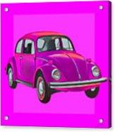 Volkswagen Beetle So Pinks Acrylic Print