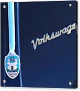 Volkswagen Vw Bug Hood Emblem Acrylic Print