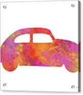 Volkswagom Beetle Art Flames Acrylic Print