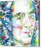 Voltaire - Watercolor Portrait Acrylic Print