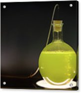 Volumetric Flask With Green Liquid Chemical Experiment Acrylic Print