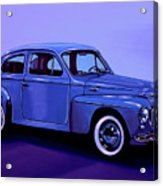 Volvo Pv 544 1958 Mixed Media Acrylic Print