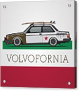Volvofornia Slammed Volvo 242 240 Coupe California Style Acrylic Print