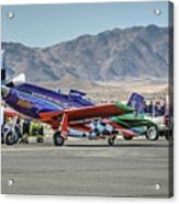 Voodoo Engine Start Sunday Gold Unlimited Reno Air Races Acrylic Print